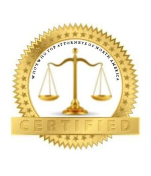 WW top attorneys of north america certified badge