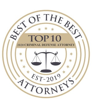 Best of the best top 10 criminal defense award badge