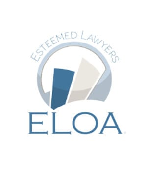 ELOA Esteemed lawyer award badge